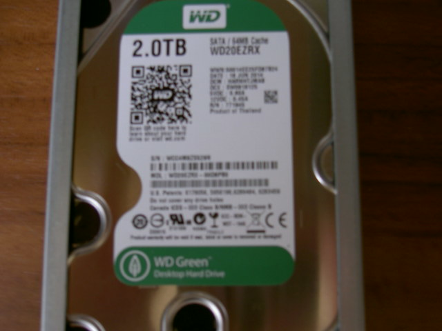 新品WD Green 3.5inch IntelliPower 2.0TB 64MBキャッシュ SATA3.0 WD20EZRX/N